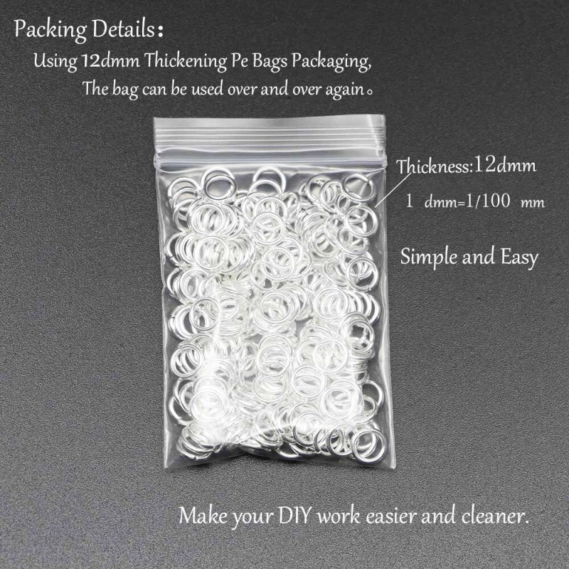 200 PCS - Silver Split Rings Connectors For Diy Jewelry Finding Making Accessories CLOVER JEWELLERY