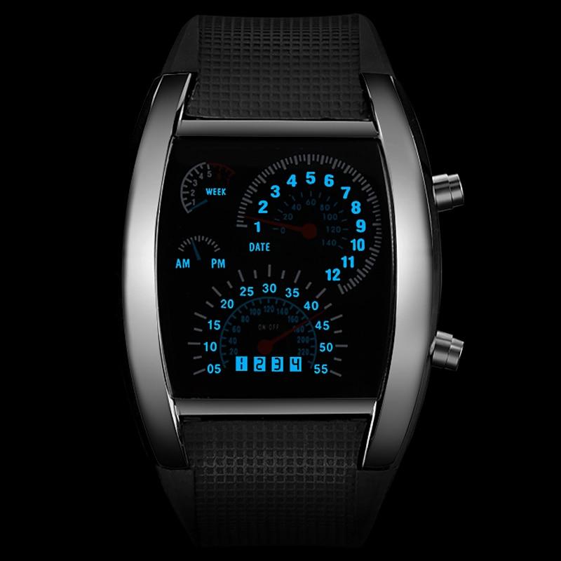 Men's Watch Unique LED Digital Watch Men Watch Electronic Sport Smart Watches CLOVER JEWELLERY