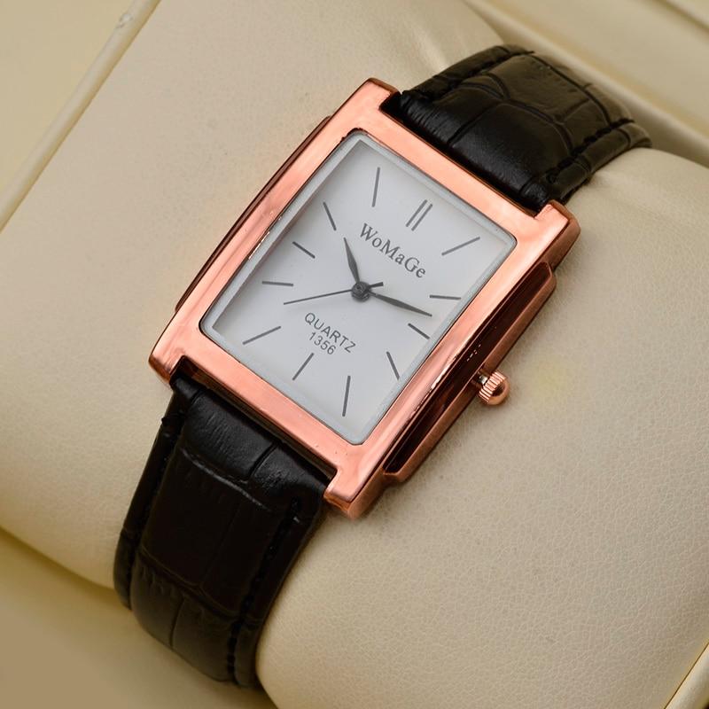 Women's Watches Top Brand Luxury Ladies Watch Women Watches Leather Strap Women's Rectangle Watch Clock CLOVER JEWELLERY