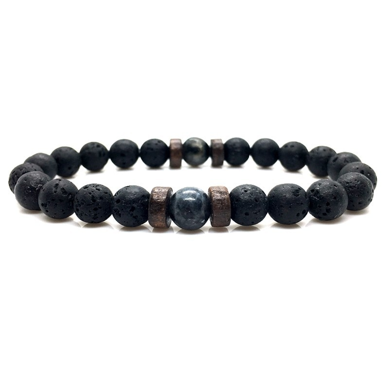 Men Bracelet Natural Moonstone Bead Tibetan Buddha Bracelet chakra Lava Stone Diffuser Bracelets Men Jewelry CLOVER JEWELLERY