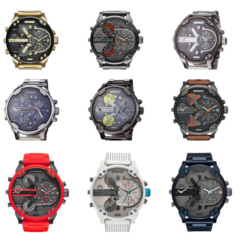 Men's Sport Watch with Large Dial Stainless Steel Analogue Quartz Watch DZ Fashionable Luxury Casual and Business Watch for Men CLOVER JEWELLERY