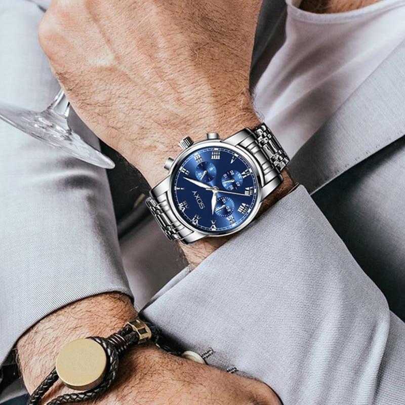 Men's Watch Fashion Luminous Sport Watches For Men Luxury Business Men's Watches Male Clock CLOVER JEWELLERY