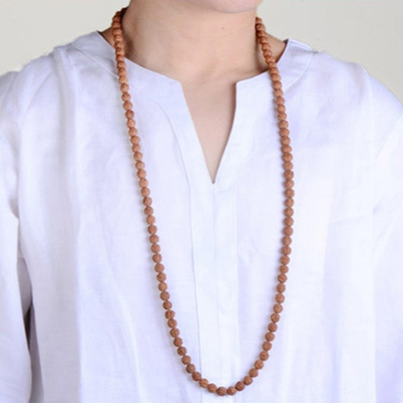 Vajra Bodhi Rudraksha Beads Meditation Mala Bead Jewelry Making Prayer Chakras 108Pcs Bodhi Tibetan Buddhism Bracelet Buddhist CLOVER JEWELLERY