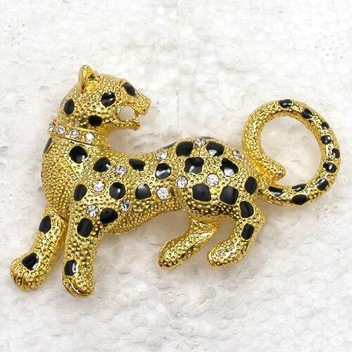 12pcs Fashion Brooch Rhinestone Enamel Leopard Pin Brooches Jewelry Gift CLOVER JEWELLERY
