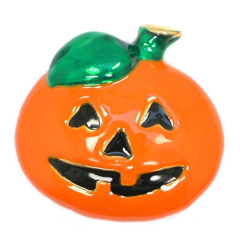 12pcs a lot Halloween Orange Enamel Pumpkin Pin Brooch Pumpkin Women's Weddings Banquet brooch pins CLOVER JEWELLERY