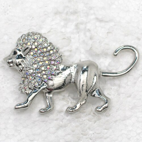 12pcs/lot Wholesale Fashion Brooch Rhinestone Lion Corsage Pin brooches CLOVER JEWELLERY