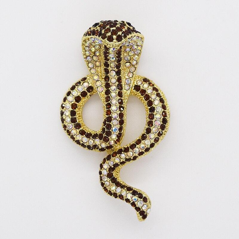 12pcs/lot Fashion Brooch Rhinestone Snake Pin Brooches Jewelry Gift CLOVER JEWELLERY