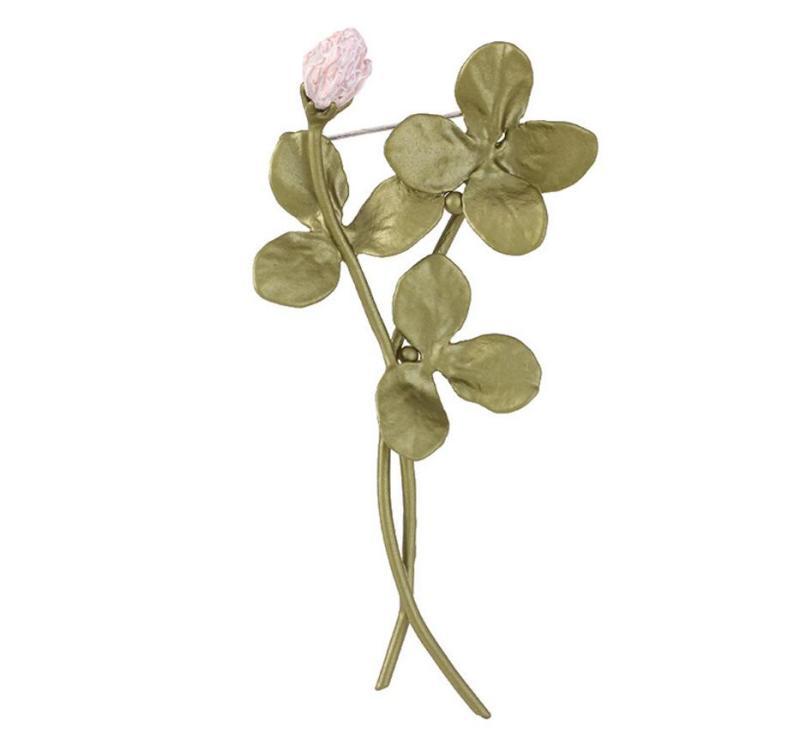 Bronze Lucky Clover Brooch Vintage Women's Wedding Accessories CLOVER JEWELLERY