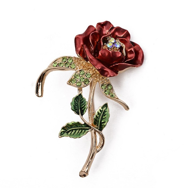 Exquisite Clover Roses Shape Brooches Pins Women Clothing Accessories CLOVER JEWELLERY