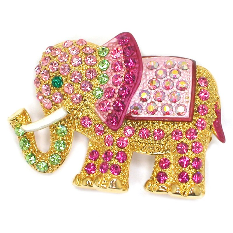 High-end exquisite elephant brooch men's and women's suit blazer brooch luxury pin CLOVER JEWELLERY