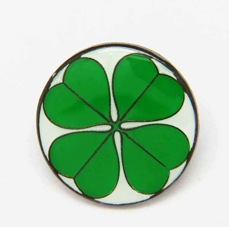 Four 4 Leaf Lucky Clover Lapel - Hat - Cap - Tie Pin Badge Brooch Gift (5 pcs ) CLOVER JEWELLERY