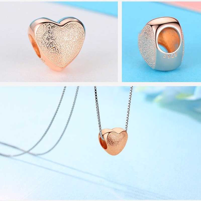 Silver Spacer Crystal Bead Rose Gold Charms Fit Original Charm Bracelet CLOVER JEWELLERY