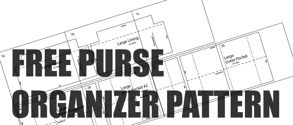 Free Download of Purse Organizer Insert Sewing Pattern