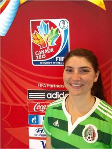 Photo Contributed After a stellar career Buchanan and Pepperdine, Bears grad Anisa Guajardo made the roster for the Mexican national soccer team which recently participated in the World Cup in Canada.