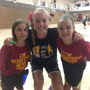 Photo by Paul Meadors Megan Anderson's busy summer included helping out the youngsters at Clovis West's Xtreme Hoop camp. The three-day camp included crazy sock day, crazy hair day and super hero day and focused on improving girls' overall basketball skills.