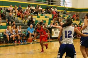 Photo courtesy of Tamera Sanders Bre'yanna Sanders of Clovis West toured around the United States this summer with her Cal Stars all-star team, shown here playing in Oregon. The talented player is an upcoming junior this season.
