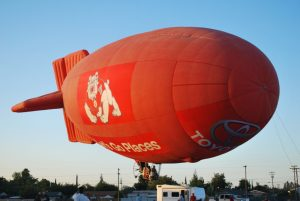 Fresno State's Bulldog One blimp made its ClovisFest debut last weekend.