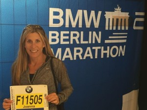 Photo by DeAnna Turner Joanna Vitale at the Berlin Marathon.