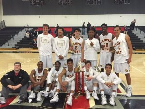 Photo courtesy of Clovis West basketball The Clovis West (12-3) boys team won the Tustin Classic in Southern California during the Christmas break by beating San Clemente 51-50 behind Walter Graves III game-winning drive with one second left in the game. Adrian Martinez and Adrian Antunez were named all-tournament.