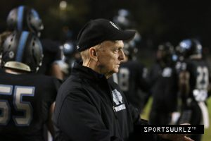 Photo by Nick Baker Legendary coach Tim Simons has stepped down from his head coaching position from the Clovis North football program. Simons, 74, won 11 league championships and five section titles with Clovis High in a career lasting more than 30 years.