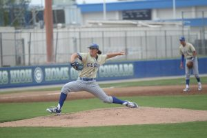 Photo by David Menendian Clovis High pitcher Zac Whittaker was named the Most Valuable Pitcher in the 2016 Coca Cola Classic as the senior went 3-0 including a 2-1 victory in the championship game against Clovis North.