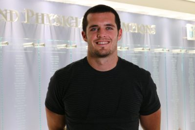 Former Fresno State quarterback Derek Carr and his wife Heather have launched DC4KIDS, a foundation to help meet the needs of Valley Children's patients.