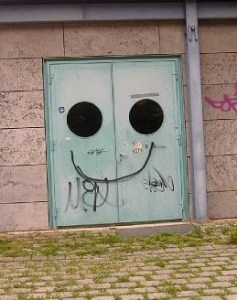 Funny looking door.