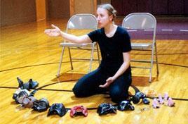 Ariane Anthony teaches masks