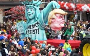 German Carneval Float: Justice on a Platter
