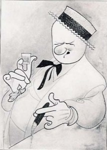 W.C. Fields drawing by Al Hirschfeld.