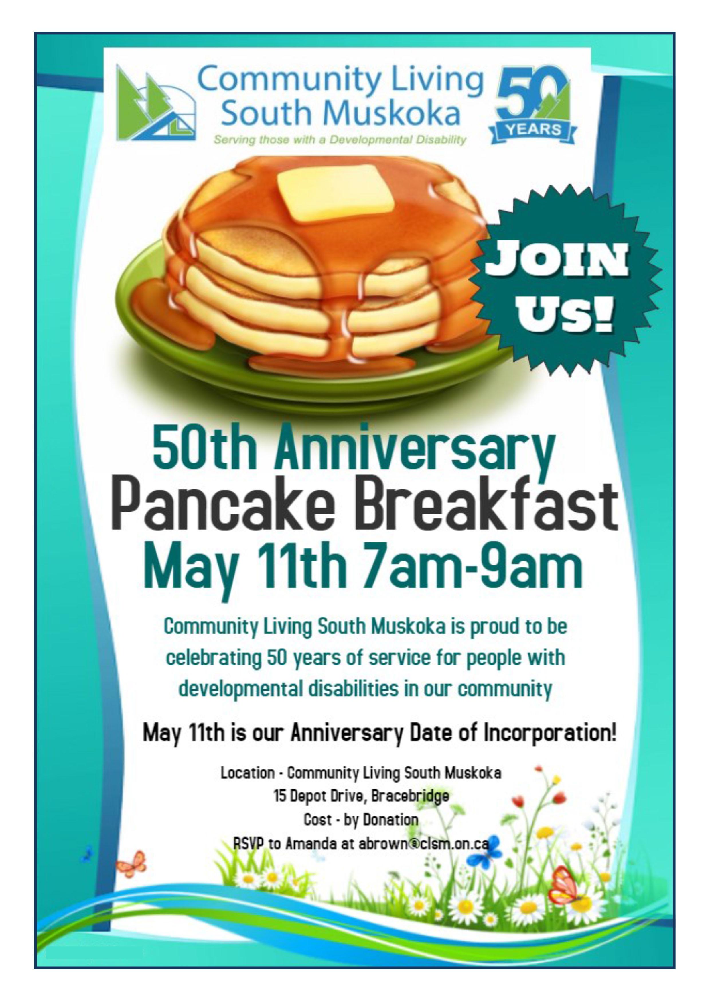 Pancake Breakfast  Community Living South Muskoka
