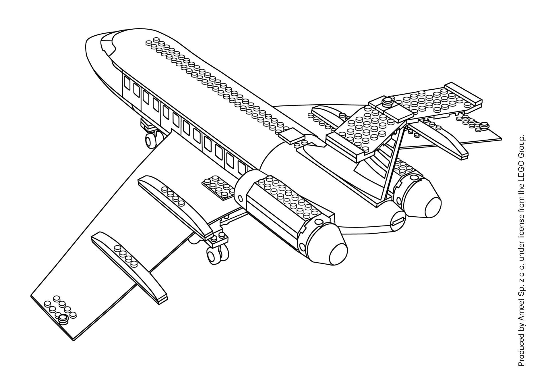 Coloriage Lego City Avion L