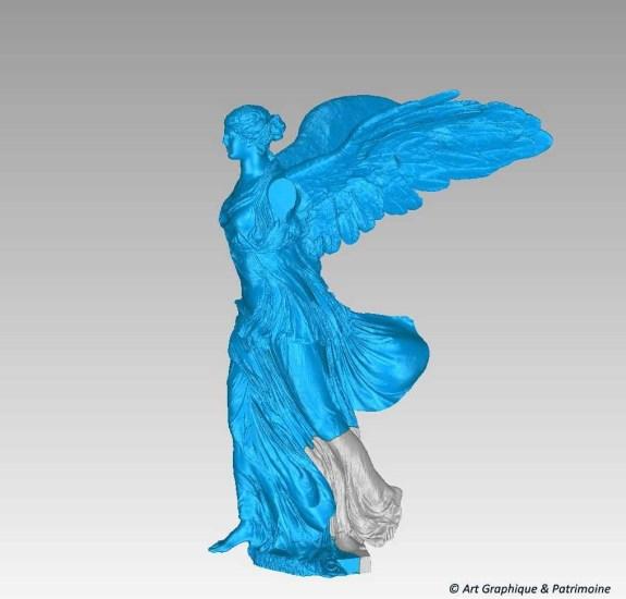 Reconstitution de la Victoire de Samothrace-Work in progress ©Art Graphique & Patrimoine