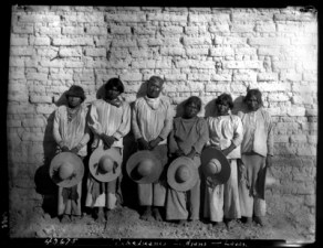 AMHN Tepehuan men with hats Lajas Durango 1893