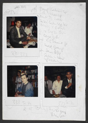 "Notes sur les costumes pour le film ""My Beautiful Launderette, 1985 (copyright Hanif Kureishi and Penny Eyles)"