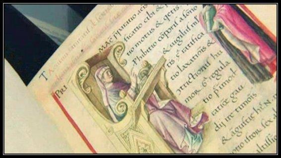 Une page du tacuinum-sanitatis du XVe siècle. Collection de la Bibliothèque de Rouen