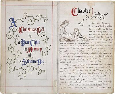 Premières pages du manuscrit original d'Alice au Pays des Merveilles © The British Library