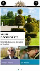 Chateau de versailles appli jardins HP 2