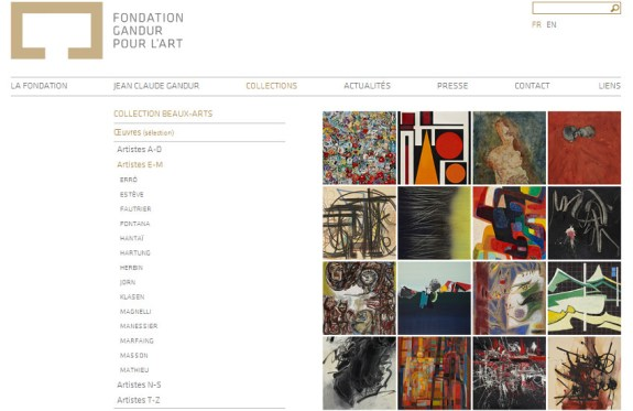 Fondation gandur hp site web