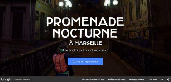 Google promenade nocturne marseille hp