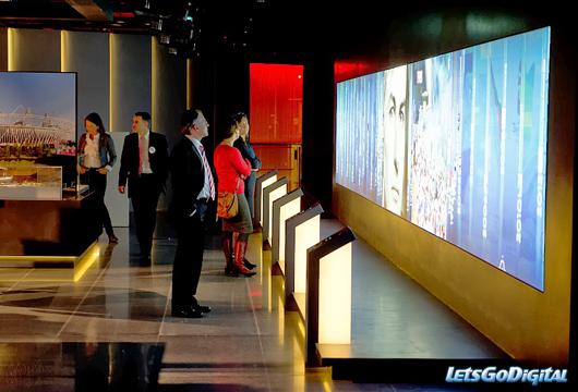 Olympic museum photo intérieur grand ecran interactif2