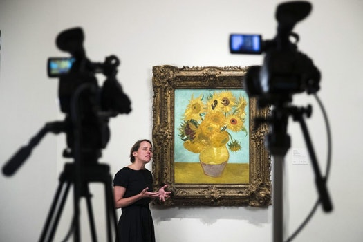 Facebbok live show dans une galerie du Philadelphia Museum of Art