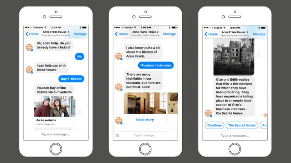 anne frank house chatbot