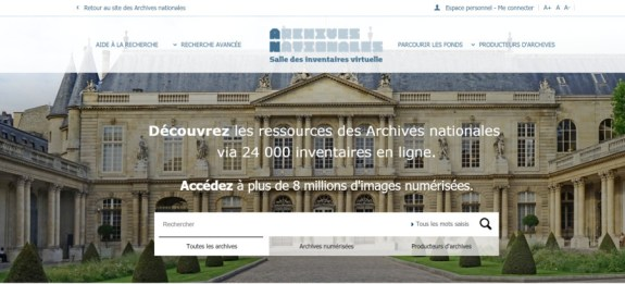 archives nationales site web