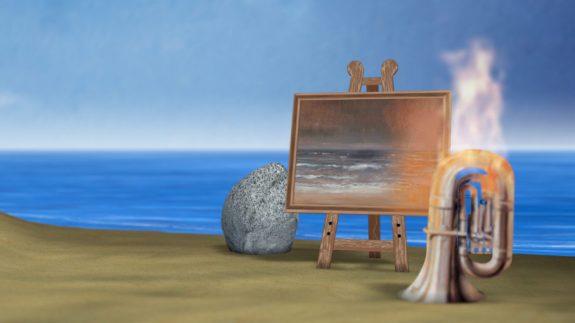 bdh magritte Burning-beach-907x510