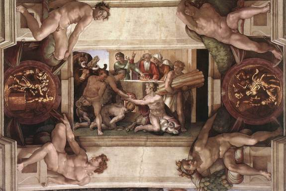 chapelle sixtine Michelangelo,_Sacrifice_of_Noah_00 wikipedia