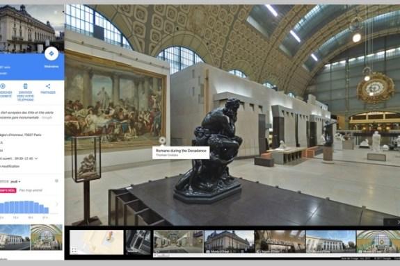 Le musée d'Orsay sur Google Maps