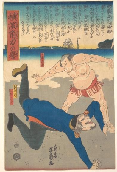 met archives org sumo-japanese-woodblock