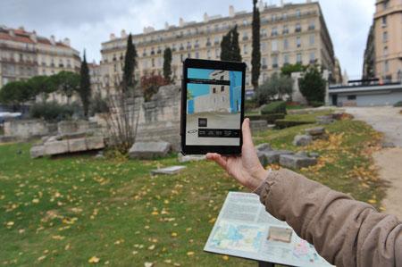 musée histoire marseille appli photo tablett