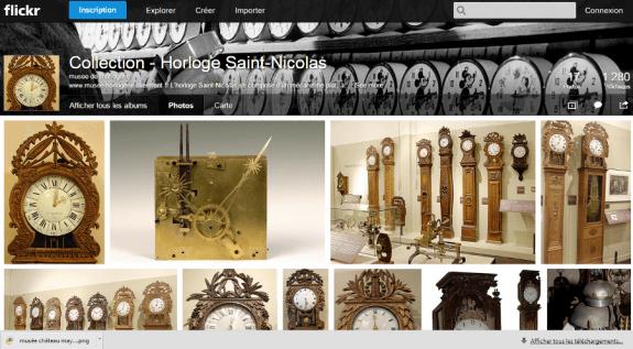 Page flickr du  musée de l'horlogerie de Saint-Nicolas-d'Aliermont